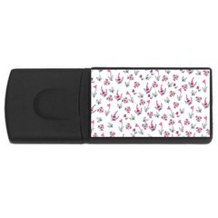 Heart Ornaments And Flowers Background In Vintage Style USB Flash Drive Rectangular (4 GB)