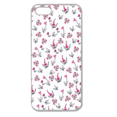 Heart Ornaments And Flowers Background In Vintage Style Apple Seamless iPhone 5 Case (Clear)