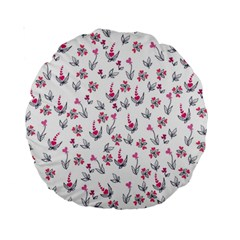 Heart Ornaments And Flowers Background In Vintage Style Standard 15  Premium Round Cushions