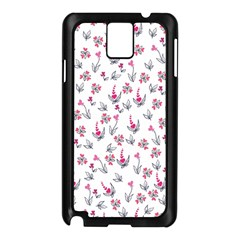 Heart Ornaments And Flowers Background In Vintage Style Samsung Galaxy Note 3 N9005 Case (Black)