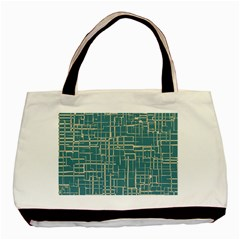 Hand Drawn Lines Background In Vintage Style Basic Tote Bag