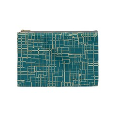 Hand Drawn Lines Background In Vintage Style Cosmetic Bag (Medium)