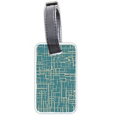 Hand Drawn Lines Background In Vintage Style Luggage Tags (One Side)