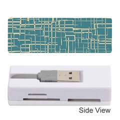 Hand Drawn Lines Background In Vintage Style Memory Card Reader (Stick)