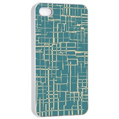 Hand Drawn Lines Background In Vintage Style Apple iPhone 4/4s Seamless Case (White)