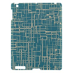 Hand Drawn Lines Background In Vintage Style Apple iPad 3/4 Hardshell Case