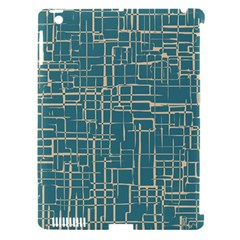 Hand Drawn Lines Background In Vintage Style Apple iPad 3/4 Hardshell Case (Compatible with Smart Cover)