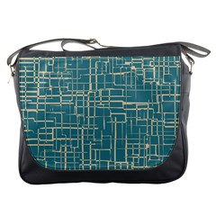 Hand Drawn Lines Background In Vintage Style Messenger Bags