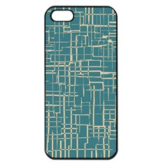 Hand Drawn Lines Background In Vintage Style Apple iPhone 5 Seamless Case (Black)