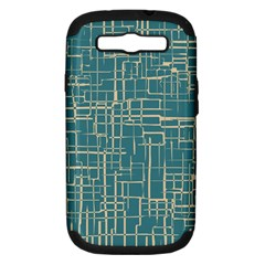 Hand Drawn Lines Background In Vintage Style Samsung Galaxy S III Hardshell Case (PC+Silicone)