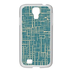 Hand Drawn Lines Background In Vintage Style Samsung GALAXY S4 I9500/ I9505 Case (White)