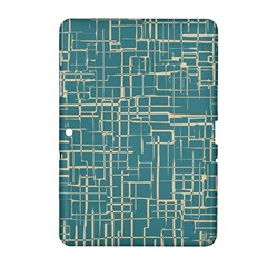 Hand Drawn Lines Background In Vintage Style Samsung Galaxy Tab 2 (10.1 ) P5100 Hardshell Case