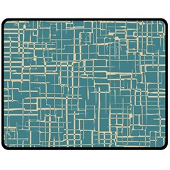 Hand Drawn Lines Background In Vintage Style Double Sided Fleece Blanket (Medium)