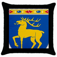 Coat of Arms of Aland Throw Pillow Case (Black)