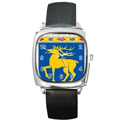 Coat of Arms of Aland Square Metal Watch