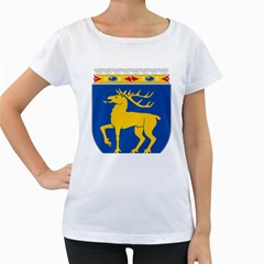 Coat of Arms of Aland Women s Loose-Fit T-Shirt (White)