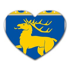 Coat of Arms of Aland Heart Mousepads