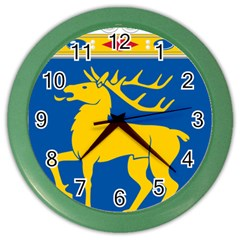 Coat of Arms of Aland Color Wall Clocks