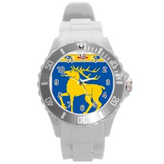 Coat of Arms of Aland Round Plastic Sport Watch (L)