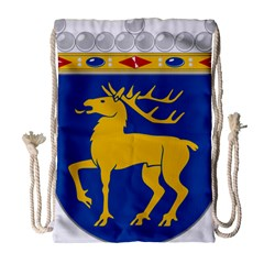 Coat of Arms of Aland Drawstring Bag (Large)
