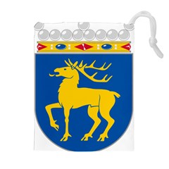 Coat of Arms of Aland Drawstring Pouches (Extra Large)