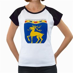 Coat of Arms of Aland Women s Cap Sleeve T