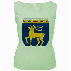Coat of Arms of Aland Women s Green Tank Top