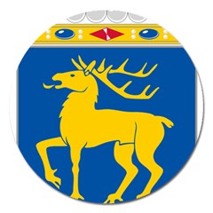 Coat of Arms of Aland Magnet 5  (Round)