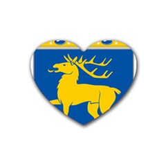 Coat of Arms of Aland Heart Coaster (4 pack)