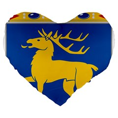 Coat of Arms of Aland Large 19  Premium Heart Shape Cushions