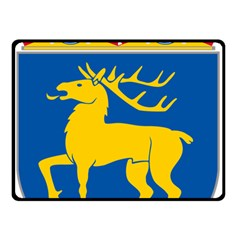 Coat of Arms of Aland Double Sided Fleece Blanket (Small)