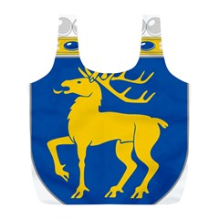 Coat of Arms of Aland Full Print Recycle Bags (L)