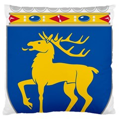 Coat of Arms of Aland Large Flano Cushion Case (Two Sides)