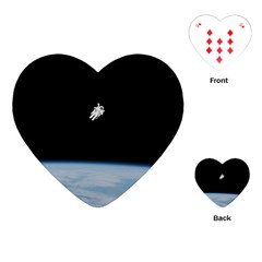 Amazing Stunning Astronaut Amazed Playing Cards (Heart)