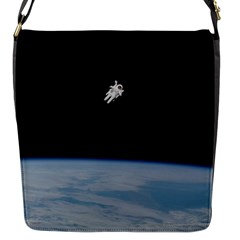 Amazing Stunning Astronaut Amazed Flap Messenger Bag (S)