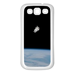 Amazing Stunning Astronaut Amazed Samsung Galaxy S3 Back Case (White)