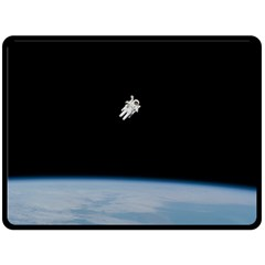 Amazing Stunning Astronaut Amazed Double Sided Fleece Blanket (Large)