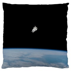 Amazing Stunning Astronaut Amazed Large Flano Cushion Case (One Side)