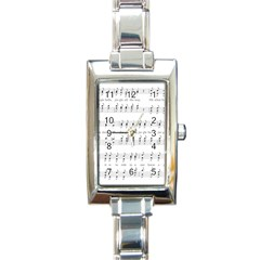 Jingle Bells Song Christmas Carol Rectangle Italian Charm Watch
