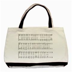 Jingle Bells Song Christmas Carol Basic Tote Bag