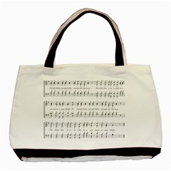 Jingle Bells Song Christmas Carol Basic Tote Bag (two Sides)