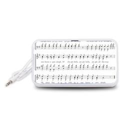 Jingle Bells Song Christmas Carol Portable Speaker (White)