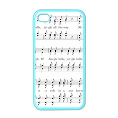 Jingle Bells Song Christmas Carol Apple Iphone 4 Case (color)