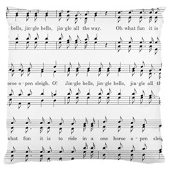 Jingle Bells Song Christmas Carol Large Cushion Case (Two Sides)