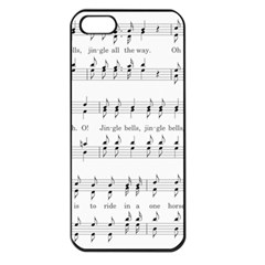 Jingle Bells Song Christmas Carol Apple iPhone 5 Seamless Case (Black)