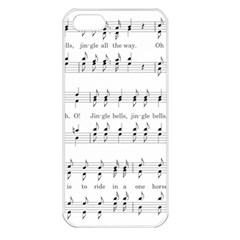 Jingle Bells Song Christmas Carol Apple iPhone 5 Seamless Case (White)