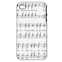 Jingle Bells Song Christmas Carol Apple iPhone 4/4S Hardshell Case (PC+Silicone)
