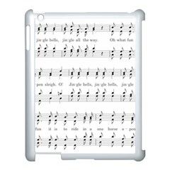 Jingle Bells Song Christmas Carol Apple iPad 3/4 Case (White)