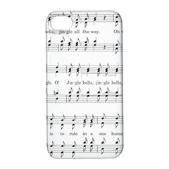Jingle Bells Song Christmas Carol Apple iPhone 4/4S Hardshell Case with Stand