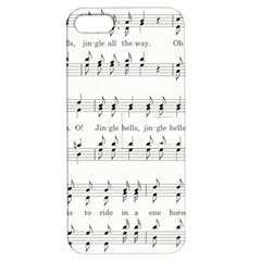 Jingle Bells Song Christmas Carol Apple iPhone 5 Hardshell Case with Stand